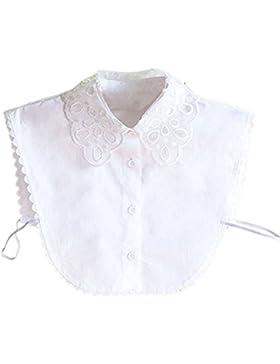 Hrph Fake mitad Blusa Cuello de las nuevas mujeres del lazo desmontable collar de Peter Pan