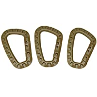 KOBWA - 3 mosquetones Multiusos tácticos para Colgar con mosquetón, mosquetón táctico con Cierre de