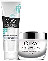 Olay Combo Pack White Radiance (Day Cream, 50 g & Cleanser, 1