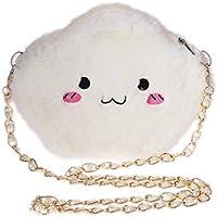 Gjyia Nette Karikatur Wolke Umhängetaschen Mode Mini Tasche Plüsch Spielzeug Mädchen Frauen Tasche Weiß Einheitsgröße