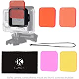 Diving Lens Filter Kit For HERO 4 HERO+ HERO And 3+ - Fits Standard Waterproof Housing - Enhances Colors For Underwater Video And Photography - Includes 5 Filters For Vivid Colors Contrast Night