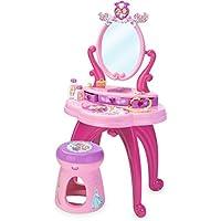 Smoby - 024232 - Princesses Disney - Bijou Et Cosmétique - Coiffeuse 2 en 1 - Modulable - Nombreux Rangements - 10 Accessoires Inclus
