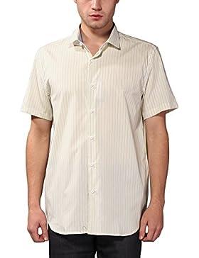 KAIUSI - Camisa para Hombre de Algodon Puro Mangas Cortas