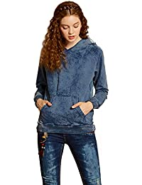 Artka Women's Fashion Vintage Long Sleeves Denim Pullover Sweatshirt