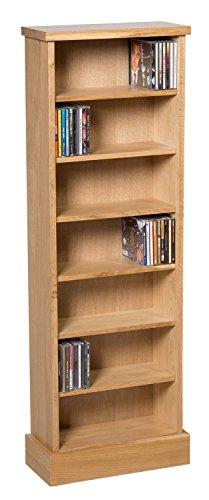 waverly-oak-cd-storage-rack-in-light-oak-finish-238-cds-shelving-tower-unit-with-7-shelves