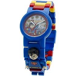 Lego DC Universe Super Heroes Superman Minifigure Link Children's Quartz Watch with Multicolour Dial Analogue Display and Multicolour Plastic Bracelet 8020257