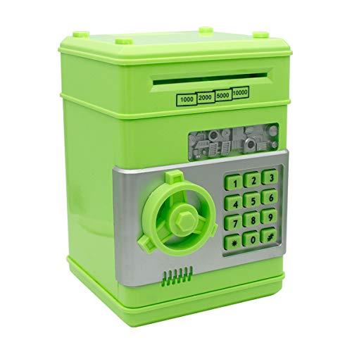 Netspower Spardose, Sparbüchse Digitale Für Kinder, Mini ATM Automatische Sparschwein - 19.3*13.5*12.5cm(Grün)