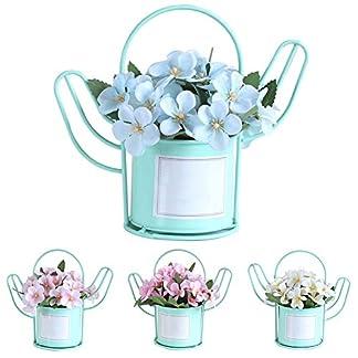 XdiseD9Xsmao Color Vivo Begonia Artificial Flor Planta Bonsai Maceta Jardín Boda Fiesta Decoración De La Mesa Agregue Ambiente A Esta Navidad Azul