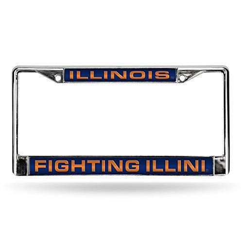 Rico NCAA Laser-Chromrahmen, Illinois Fighting Illini Big Ten Flags