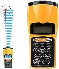 UDee LCD Digital Ultrasonic Laser Distance Area Volume Meter Measurer Tester 60FT 18M