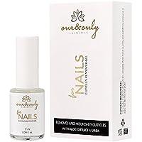 One & Only for Nails para complejos Cuidado de clavos y piel. cutículas con extracto de aloe y de plástico, de Conditioner con Biotina de uñas, úrico y cutículas aceite con Vitamina E y Argán.