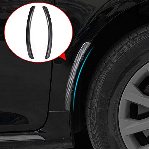 Baedivg 2pcs 24.5cm Universal Car Carbon Fiber Fender Flares Mud Flaps Splash Guards Arch Wheel Eyebrow Lip for Car Truck SUV Mudguards -