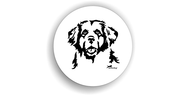 Amberdog Hunde Leonberger Sticker Auto Aufkleber Art Stk0188 Autoaufkleber Aufkleber Wohnmobil Wohnwagen Küche Haushalt