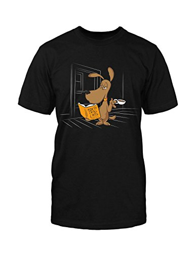 Dog Kaffee T-Shirt Neu FUN Lustig Funny Coffee Comic Hipster Blogger Satire Kult Schwarz