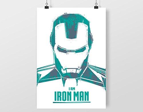 (I Am Iron Man A4 digital kunst drucken mauer dekor poster Kunstdrucke)