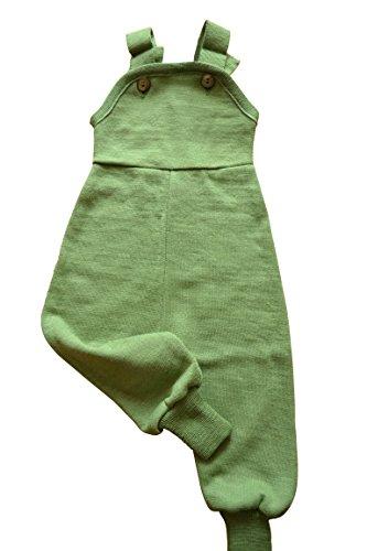 REIFF Strick Latzhose Trägerhose Wolle Seide Frottee Gr. 62-92 Bio Öko kbT *NEU* (74/80, grün)
