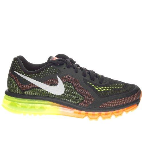 Max Jordan Fusion (Nike , Herren Leichtathletikschuhe Black sail Atomic orange Volt)