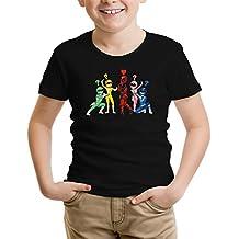 Camiseta de niño Comics - Parodia de Deadpool y Power Rangers (889)