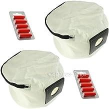 2 x Numatic Henry Hetty James Zip Up Reusable Vacuum Cleaner Hoover Bags + Freshners