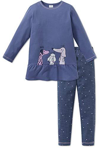 Schiesser Mädchen Schlafanzug lang 163342, blau, 116