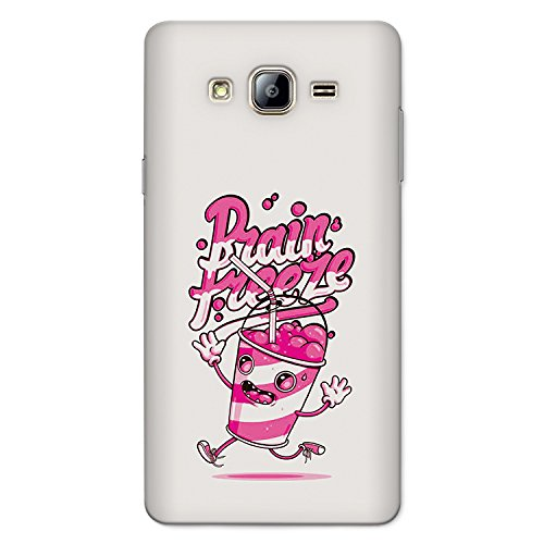 CrazyInk Premium 3D Back Cover for Samsung On7 Pro - Brain Freeze