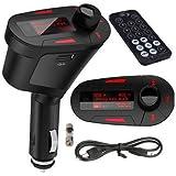 Kit Car Reproductor de MP3 FM modulador del transmisor USB-Sd MMC LCD w / control remoto de coches MP3 FM Pen Drive Rojo LCD