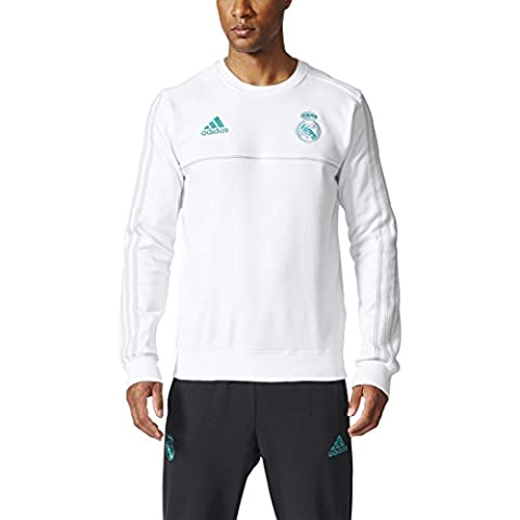Adidas SWT sweat-shirt de Real Madrid, homme S blanc