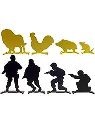 Airsoft Magic Full acero soldado & Animal objetivos de disparo 8pcs para AEG GBB airsoft–negro/amarillo