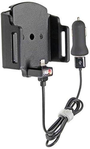 Brodit 521666 Gerätehalter aktiv auf USB inkl. KFZ-Ladeadapter für Apple iPhone 6/6s/iPhone 7 mit Apple-Hülle, verstellbar -