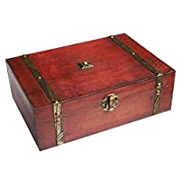 Rectangular Treasure Box Pirate Small Suitcase for Storing Jewelry Cards Collection Gifts and Home Decoration