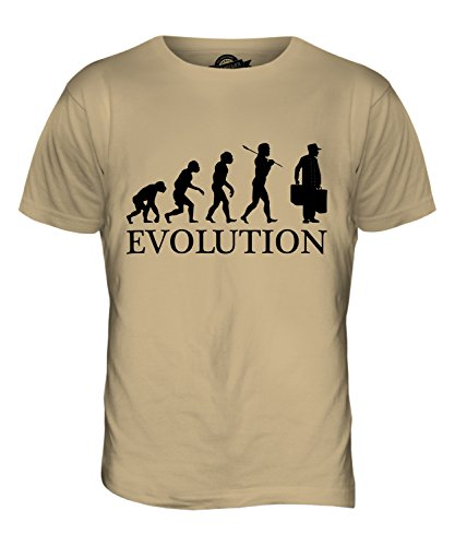 CandyMix Porter Evolution Des Menschen Herren T Shirt Sand