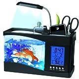 Pantalla LCD multifuncional de escritorio USB lámpara de luz LED Acuario Pecera con Calendario/Reloj por Express Panda