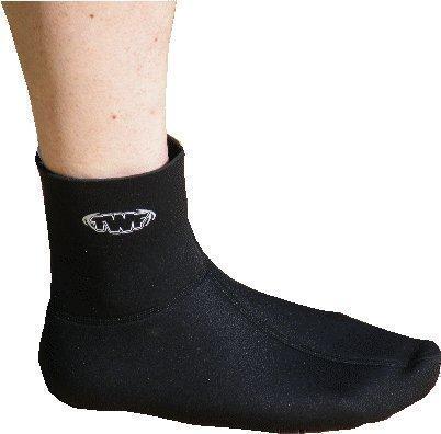 (XS) TWF Fin Socks. 3mm Neoprene Wetsuit sock for bodyboard or snorkelling fins / flippers. Full Range Of Sizes