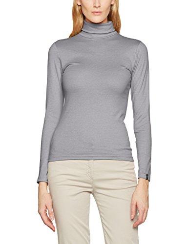 Trigema Rollkragen-Shirt - T-shirt à manches longues - Femme Gris - Gris frais