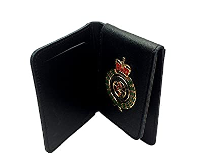 Ambulance Paramedic Leather ID Badge Card Holder Wallet with Ambulance Service Badge