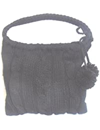 DIETZ Wintertasche Strick schwarz 37x25x12cm