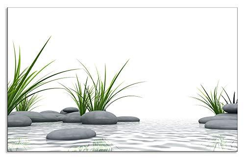 Artland Design Spritzschutz Küche I Alu Küchenrückwand Herd Wellness Zen Stein Fotografie Weiß H8GT 3 D Steine
