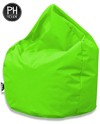 Patchhome Sitzsack Tropfenform Kiwi für In & Outdoor XXL 420 Liter - mit Styropor Füllung in 25 Versch. Farben und 3 Größen