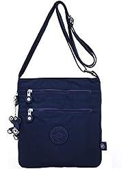 6d97ede476111 TEGAOTE Umhängetasche Damen Schultertasche Erweiterbare Lässige  Kuriertasche Leicht Taschen Vintage Reisetasche Mode Strandtasche Design  Sporttasche für