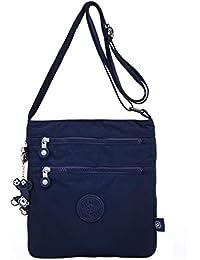 5afbd7f0d2d23 TEGAOTE Umhängetasche Damen Schultertasche Erweiterbare Lässige  Kuriertasche Leicht Taschen Vintage Reisetasche Mode…