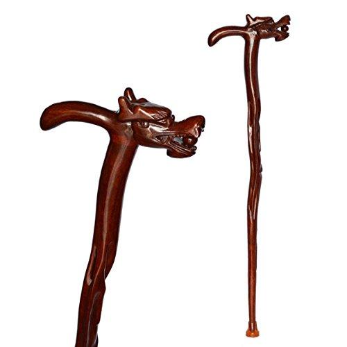Stampelle tinta legno palissandro vecchio legno Stick solido rubinetto sculture in legno canna canna canna a piedi in legno