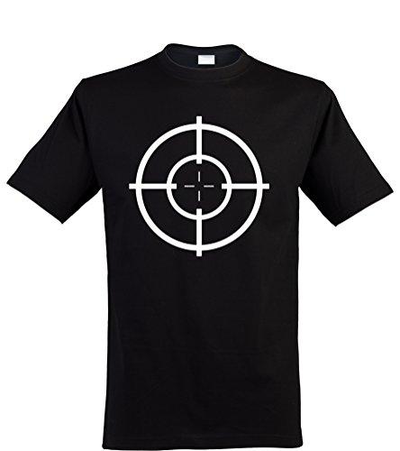 (Klamottenkiste24 Herren T-Shirt, Zielscheibe/Target, schwarz, Gr. M)