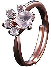 Impression 1 PCS Anillos Anillo de huellas Anillo de diamantes de Moda Anillo de Cristal Girl