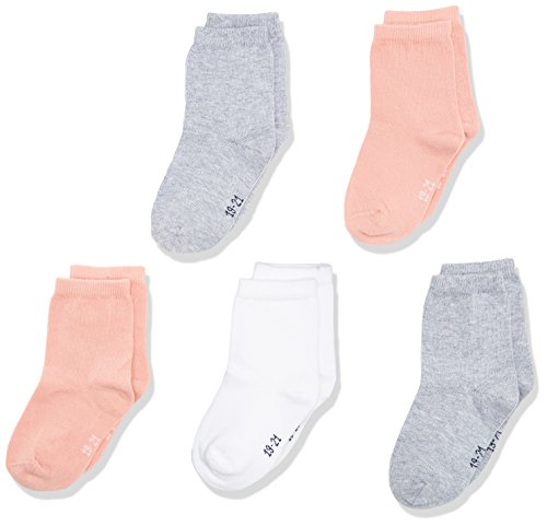 NAME IT Nmfsock 5p Noos, Calcetines para Bebés, Multicolor (Rose Tan), 23 (Talla del fabricante: 22-24)(Pack de 5)
