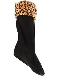 Calcetines para bota de agua de polar con estampado animal para mujer
