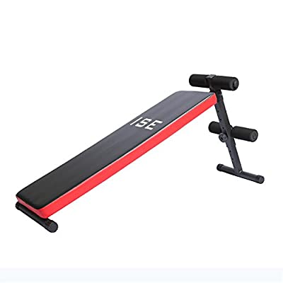 ISE Folding Sit Up Bench AB Crunch Weight Bench Home Gym Adjustable Bench SY5007A from ISE