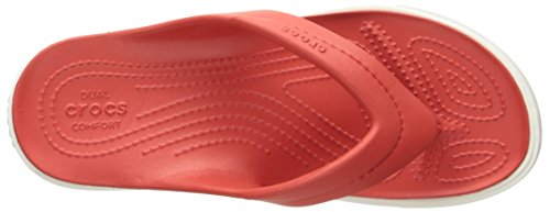 Crocs Citilaneflip, Chaussons Mules Mixte Adulte Rouge (Flame/White)