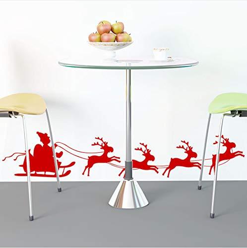 Cczxfcc Frohe Weihnachten Rentier Wandaufkleber Dekorationen Für Haus Vinyl Weihnachtsmann Wohnzimmer Schlafzimmer Dekor Fenster Glas Kunst Aufkleber -