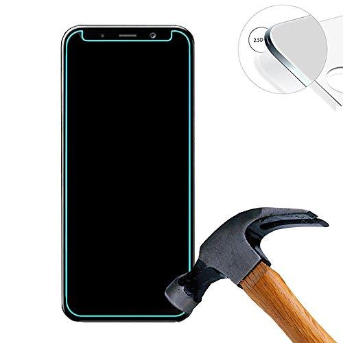 Lusee 2 X Pack Hart Panzerglasfolie Schutzfolie für Samsung Galaxy A5 2018 / A530 5.3 Zoll Tempered Glass Folie Screen Protector Panzerfolie Glasfolie(Nur den flachen Teil abdecken)