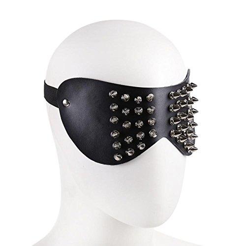 Halloween Masquerade Sklaven Maske Sexy Leder Masken Mundknebel -